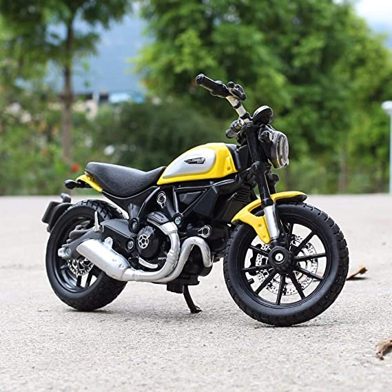 Amazon.com: Greensun escala 1:18 Ducati Scrambler Moto Race ...