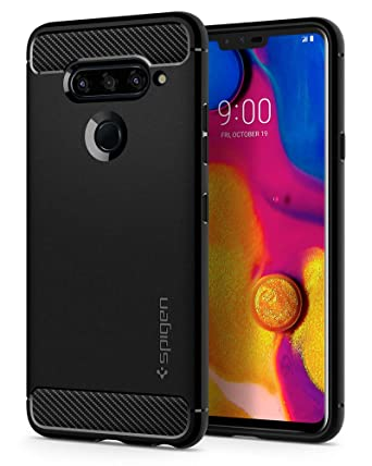 Spigen Rugged Armor Designed for LG V40 ThinQ Case (2018) - Black