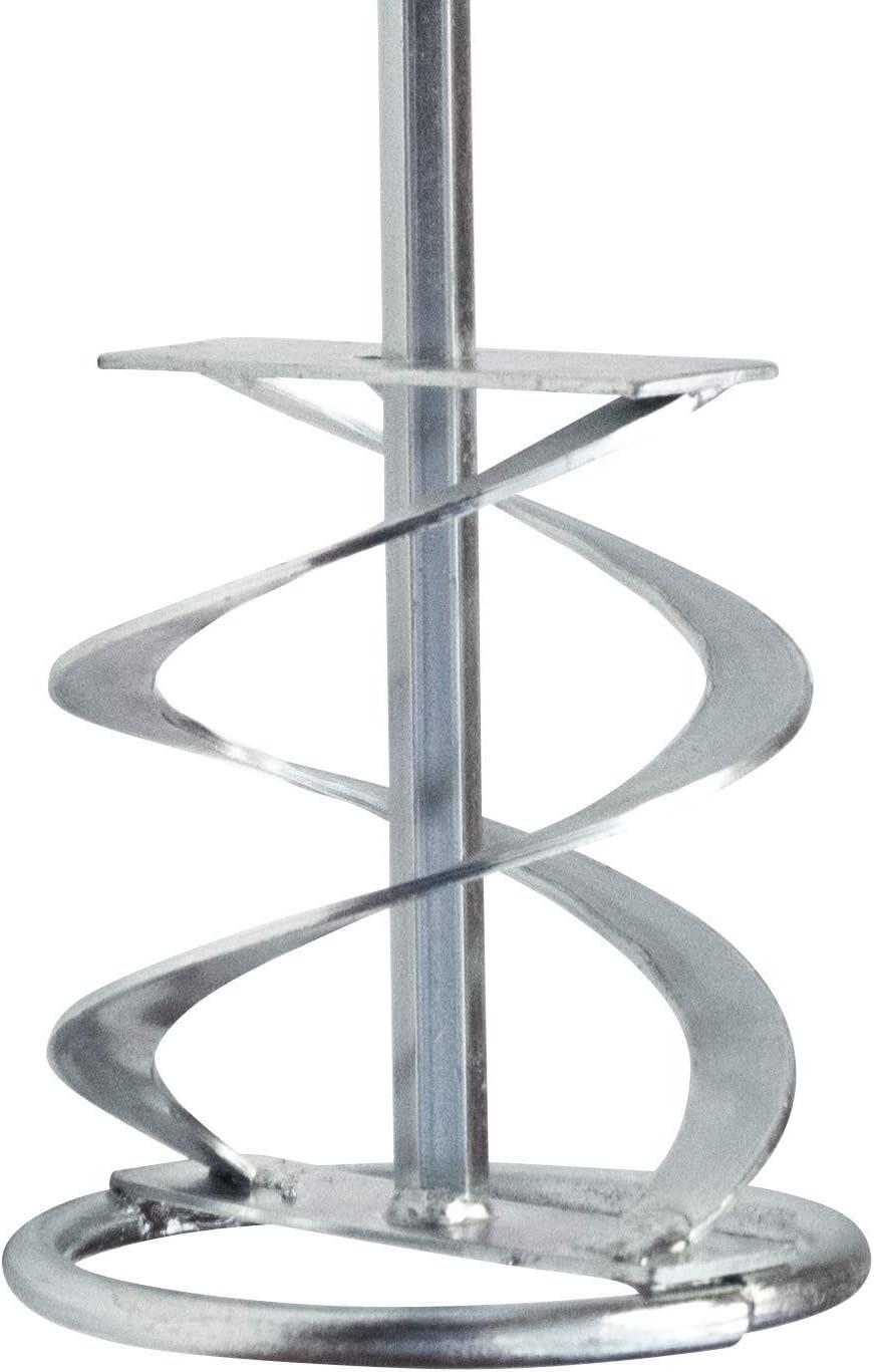 Mezclador multimezclador, agitador, batidor de render, paleta para yeso, hormigón, cemento, pintura 80 mm x 400 mm