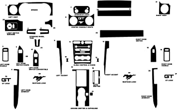 Black Carbon Fiber 4D Rvinyl Rdash Dash Kit Decal Trim for Ford Mustang 2010-2014