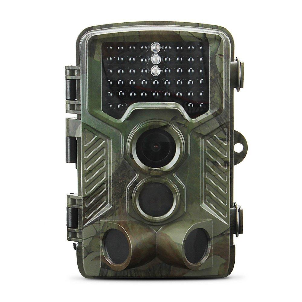 Cámara de Caza 12MP y 1080P HD Trail, Impermeable IP56, con Gran Angular de 120° y 46pcs IR LEDs Visión Nocturna con hasta 25M Hallo&World