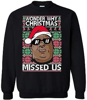 Amazoncom Shirtbanc Mens Thug Life Christmas Sweater Xmas Shirt