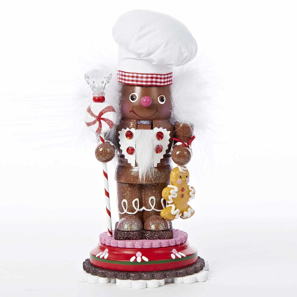 Kurt Adler Hollywood Gingerbread Chef Nutcracker, 10-Inch