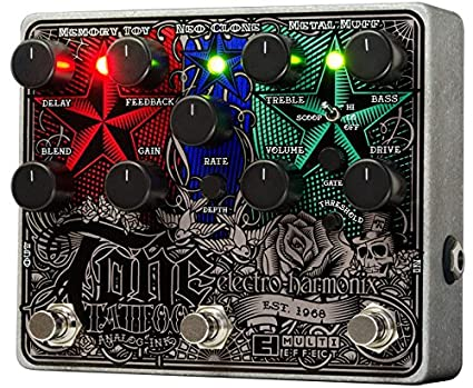 Electro Harmonix 665217 efecto de guitarra eléctrica con sintetizador Filtro Tone Tattoo