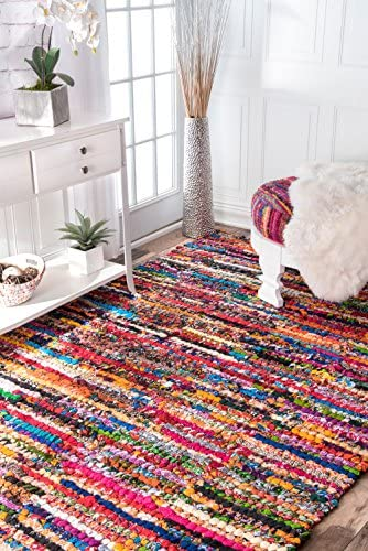 nuLOOM Michiko Braided Chindi Cotton Area Rug