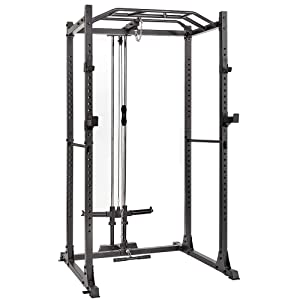 Power Cage with LAT Pulldown 1200-Pound Capacity Home Gym Equipment