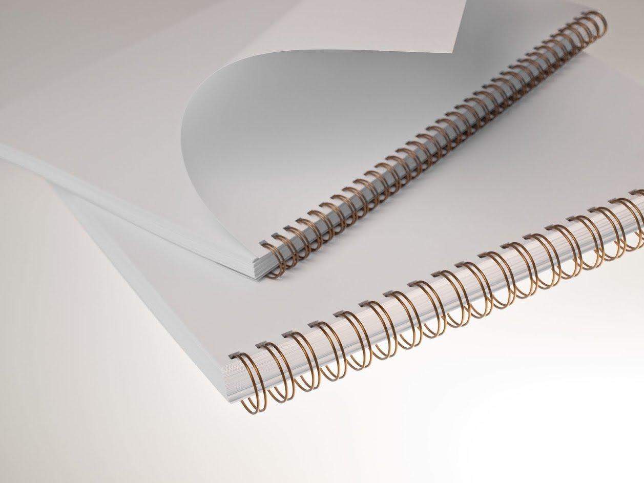 Renz One Pitch Drahtkamm-Bindeelemente in 2:1 Teilung 23 Schlaufen Durchmesser 6.9 mm 1//4 Zoll blau