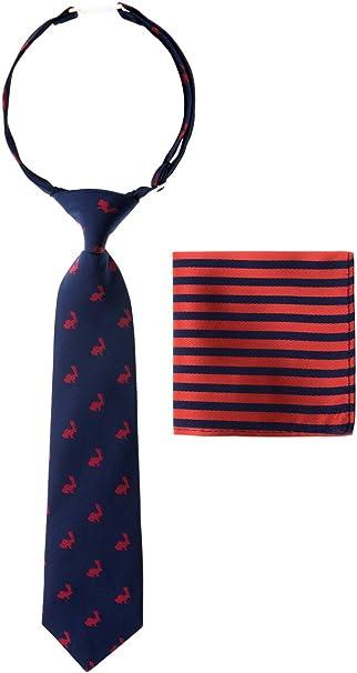 New Kids Zipper Adjustable Pre-tied Necktie Black Hot Pink White Stripes formal