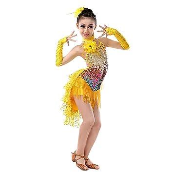 Gtagain Latino Danza Borla Vestidos Disfraces Niña - Chicas ...