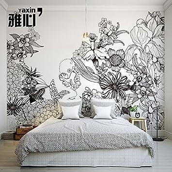 HANHUAN Art Déco Fresque 3D Papier Peint Wallpaper ...