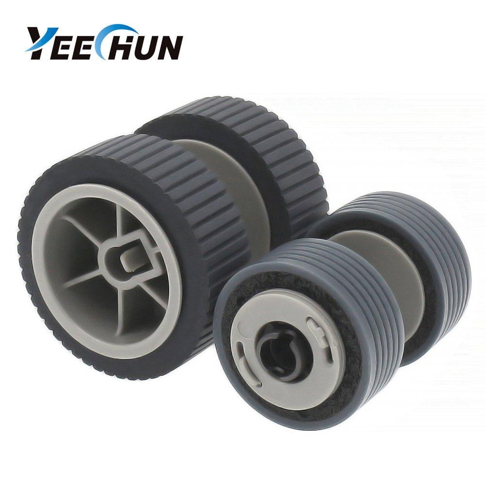 YEECHUN (200000 Page) Scanner Brake and Pick Roller Pickup Roller Set for Fujitsu 6125 6225 6230 6140 6240 6120 Fi-6125 Fi-6225 Fi-6130Z Fi-6230 Fi-6140 Fi-6240 Fi-6120 P/N: PA03540-0001, PA03540-0002
