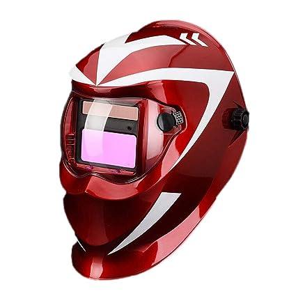Máscara de soldadura de atenuación automática Cabeza de soldador totalmente equipada Casquillo de soldadura de arco