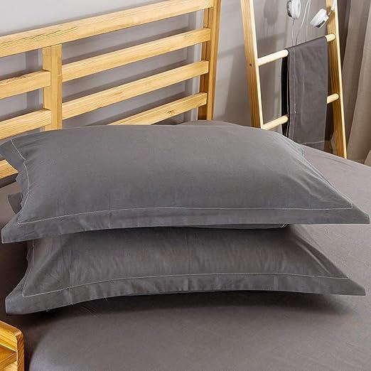 MSM Color Sólido 100% algodón Funda Almohada,Cama Hotel Fundas ...