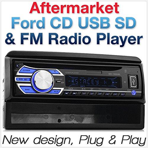 Tunez Ford Focus Transit Connect Cougar Explorer Fiesta Mondeo Puma Lecteur CD USB de Voiture FM Radio Faç ade d'autoradio sté ré o Single 1 DIN MP3 FF09CD