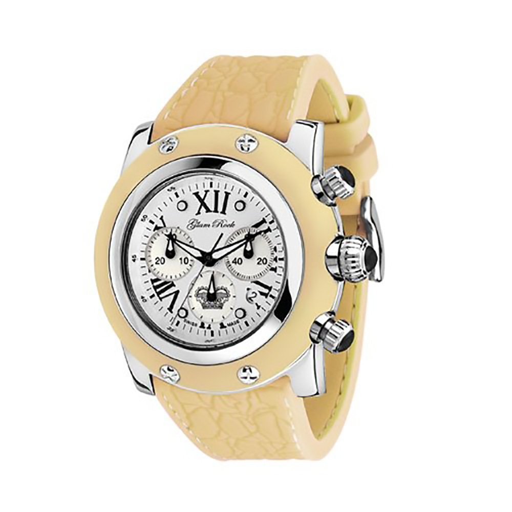 Glam Rock Women's GR30108 Summer Collection Chronograph Yellow Silicone Watch
