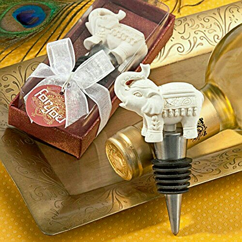 Elephant Wine Bottler Stopper Wedding Favor Reception Gift Good Luck Charm. ()