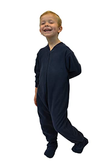 7e08f7c104 Big Feet PJs Navy Toddler Fleece Footed Pajamas  Amazon.ca  Clothing    Accessories