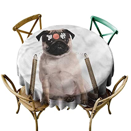 Amazon.com: HeKua Pug,Tablecloth Round WeddingMartial Art ...