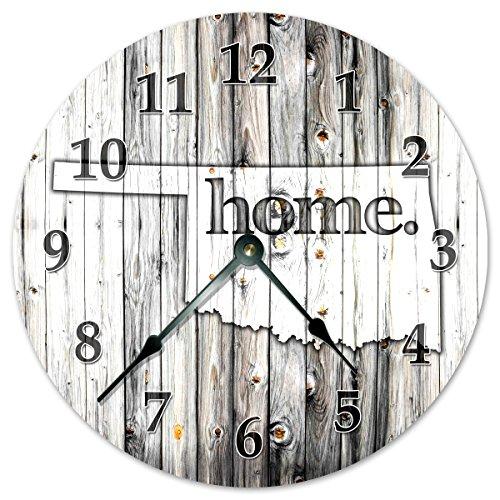Sugar Vine Art Oklahoma State Home Clock Huge 15.5