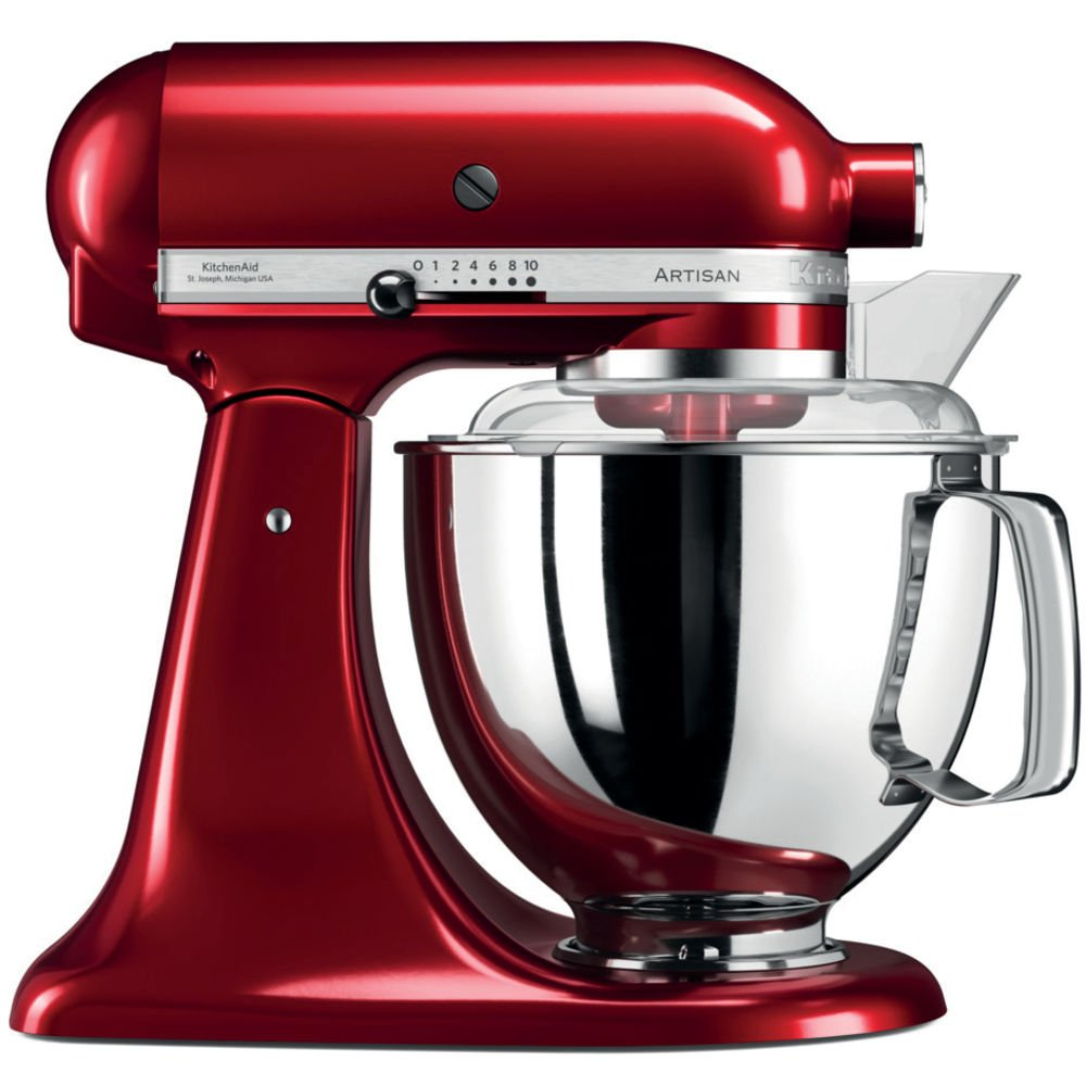 KitchenAid Artisan 5KSM175PSECA 5 Qt.Stand Mixer Candy Apple with TWO Bowls Flex Edge Beater 220 VOLTS NOT FOR USA