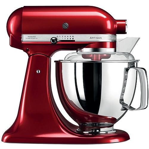KitchenAid 5KSM175PSECA Artisan Robot de cuisine professionnel avec accessoires- Rouge pomme d'amour