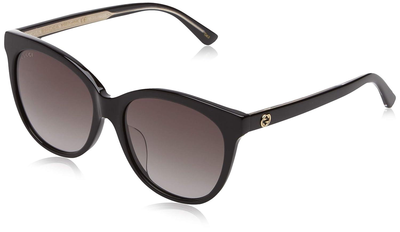 921fe258b08 Amazon.com  Gucci sunglasses (GG-0207-S 002) Havana - Brown grey black Gradient  lenses  Clothing