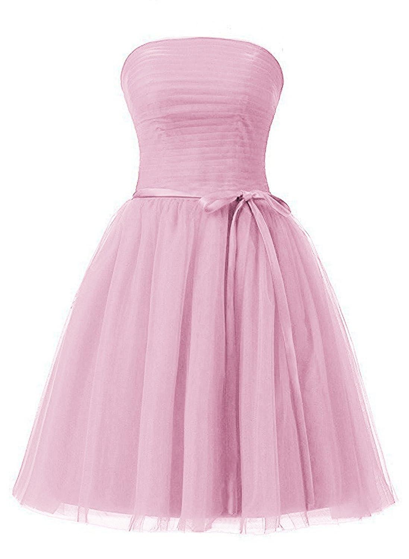 bluesh Anlin Women's Sweetheart Pleated Tulle Prom Aline Cocktail Dress