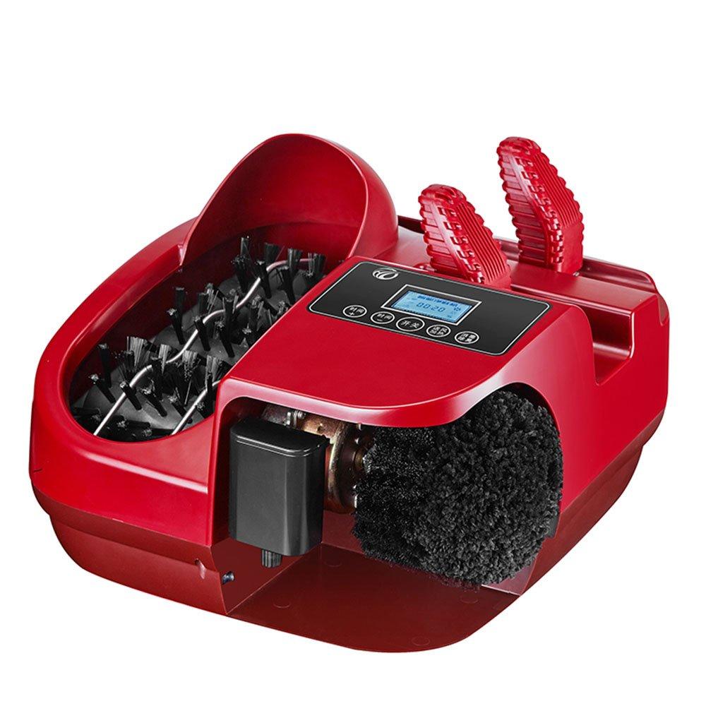 QFFL 唯一の清掃機家庭用自動フットブラシ靴のマシンドアのドアマシンをブラシソールクリーナーレッド410 * 350 * 270ミリメートル クリーニングブラシ B07BHDYMN4
