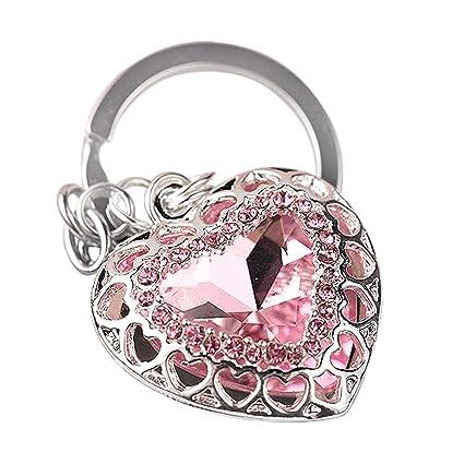 Amazon.com: z637 nuevo diseño rosa corazón Big clave Anillo ...