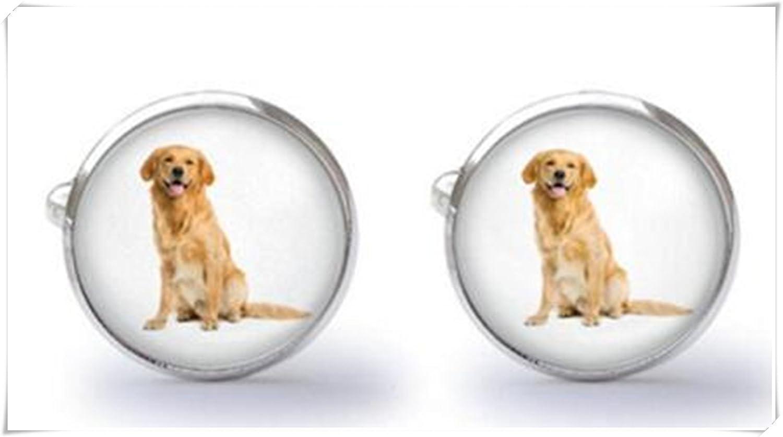 Golden Retriever Cufflinks Dog Labrador Boxed Pewter Cuff links FREE UK POST