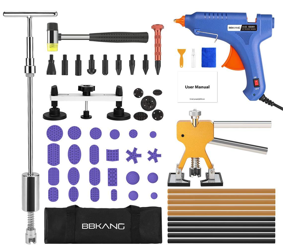 BBKANG Paintless Dent Repair Tools - Car Dent Removal Kit Golden Dent Lifter Bridge Dent Puller T-bar Tool Pops a Dent for Car Dent Door Ding Hail Dent Remover Repair