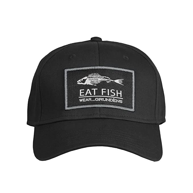 6e33199056d Image Unavailable. Image not available for. Color  Grundens HEFB Men s Eat  Fish Snap Back Ball Cap ...