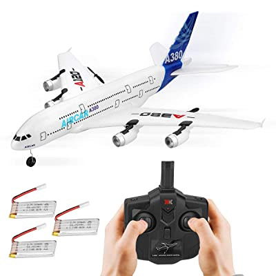 RC Airplanes 510mm Wingspan Glider 3CH 2.4Ghz DIY EPP Remote Control Airplane Toy Built-in 6-Axis Gyro A120-A380 Beginner Remote Control Plane with 3pcs Battery: Toys & Games