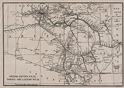 Map Of Old Arizona.Amazon Com Arizona Eastern Railroad Company Phoenix And Eastern