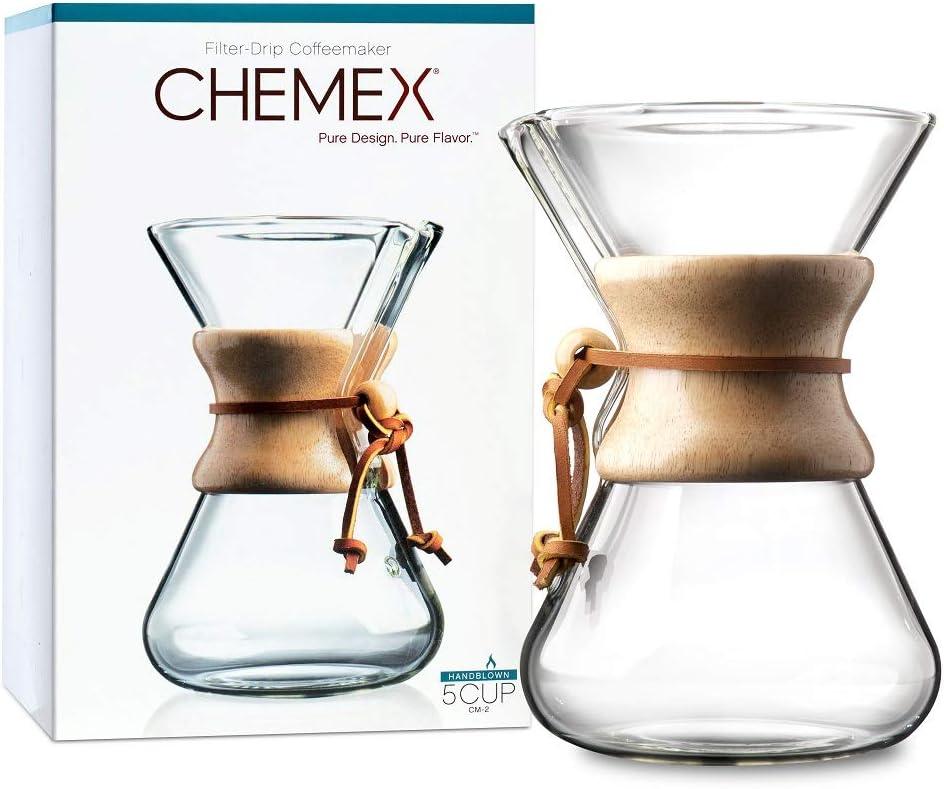 Chemex Hand Blown CM-2 | Cafetera de Filtro Manual de 5 Tazas ...