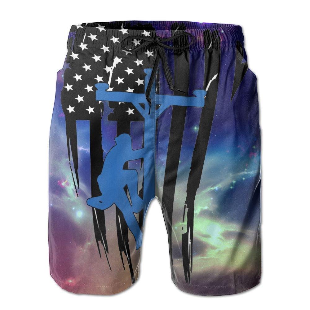 Horizon-t Beach Shorts Lineman Mens Fashion Quick Dry Beach Shorts Cool Casual Beach Shorts