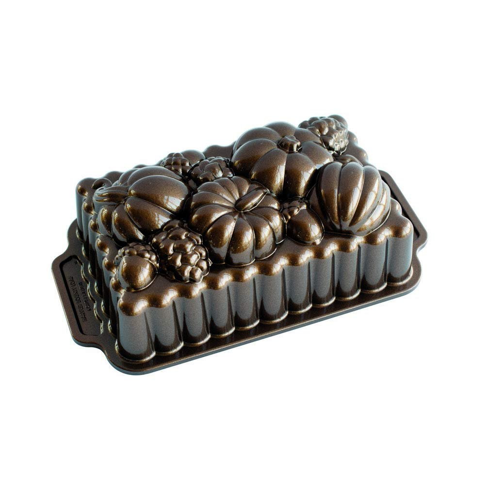 Nordic Ware 91648 Harvest Bounty Loaf Pan, One Size, Bronze by Nordic Ware