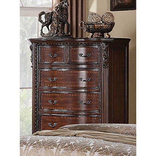 Cherry French Country Dresser - Coaster Home Furnishings 202265 Traditional Chest, Cappuccino