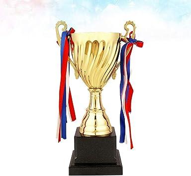 TOYANDONA Trofeo de Copa trofeos de plástico para niños competiciones premios Fiestas favores de Fiesta Accesorios recompensas premios Juegos Escolares niños y niñas (24.5cm): Amazon.es: Deportes y aire libre