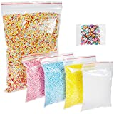 Anpro 5 Pack Foam Balls for Slime 77000 PCS 0.1-0.18 Inch and 250 Pcs Slices Nail Art Decals - Colorful Styrofoam Ball Decorative Styrofoam Beads DIY Craft Foam Beads Balls for Homemade Slime Supplies