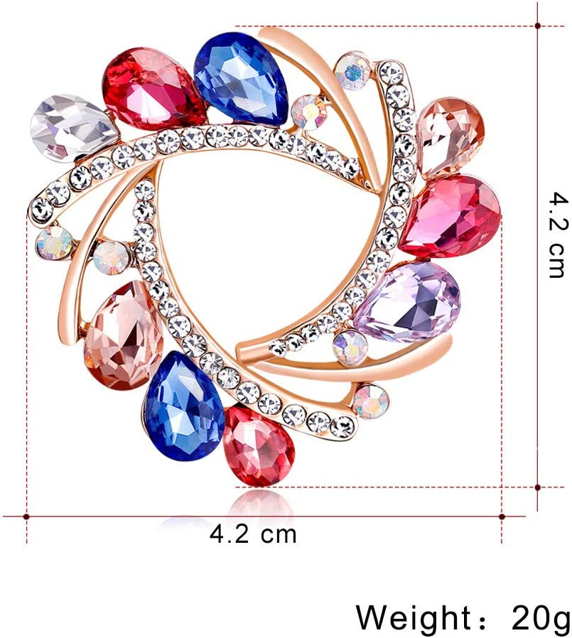 Yliquor Silk Scarf Buckle Pin Dual-use Environmentally Friendly Alloy Floral Brooch Clothes Jackets Bag Backpack Hats Accessories for Women Girls