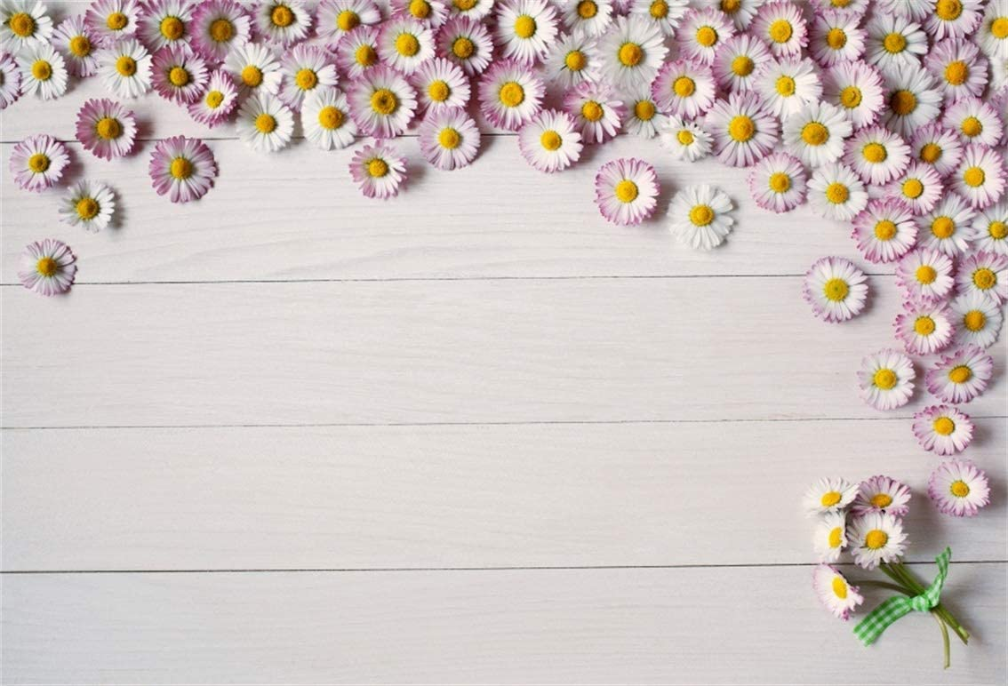 Amazon Com Leyiyi 10x8ft Spring Flowers On Wooden Board Backdrop