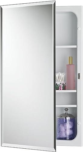 Jensen 1459MODX Bevel Mirror Medicine Cabinet, 16 x 26