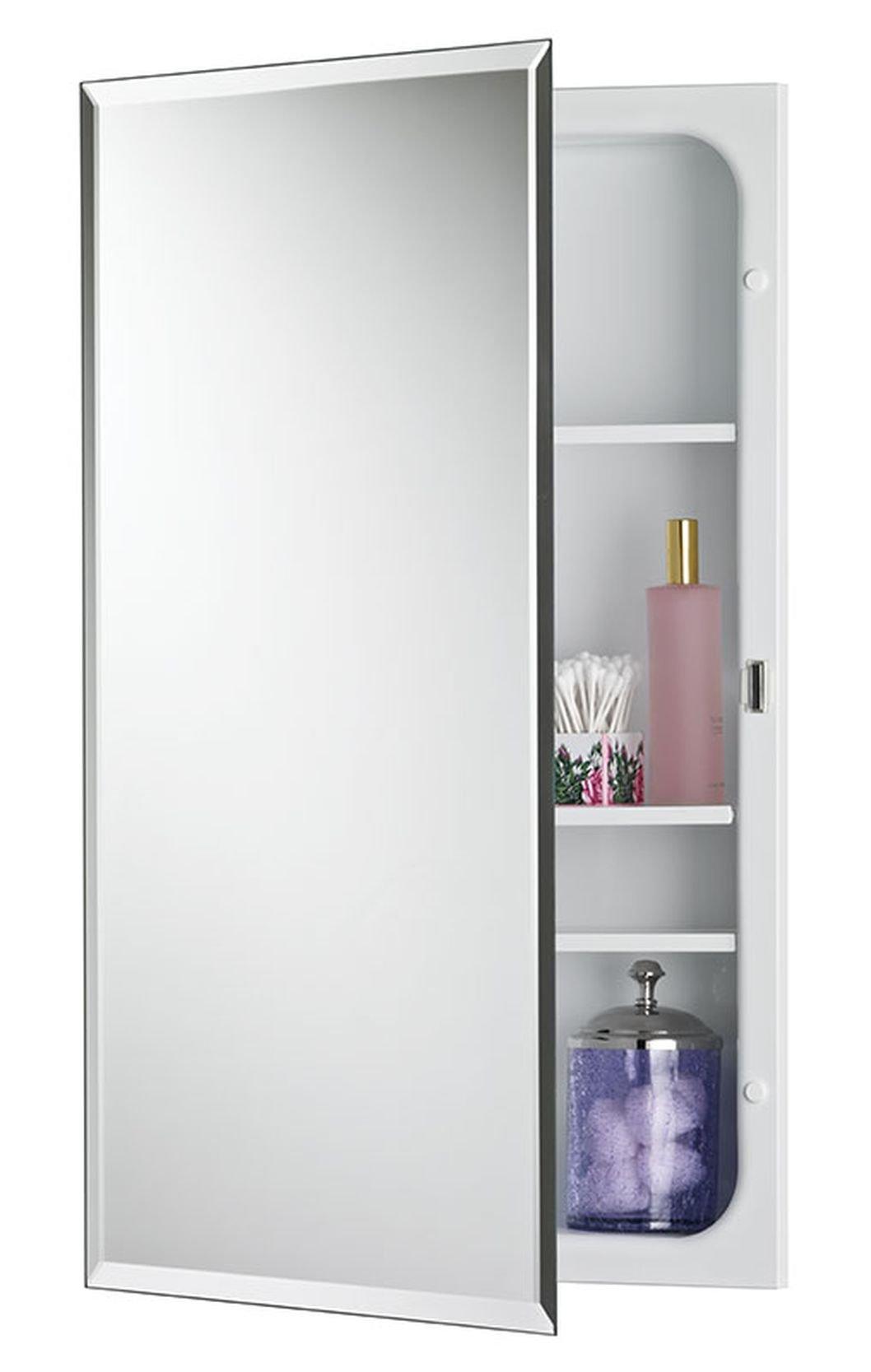 Jensen 1459MODX Bevel Mirror Medicine Cabinet, 16'' x 26''