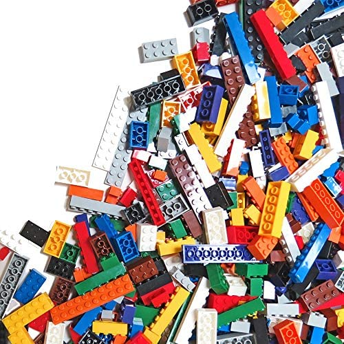6 Pounds of Assorted Building Bricks – 2,000+ Classic & Pastel Color Brick Pieces Kit – Compatible with All Major Brands