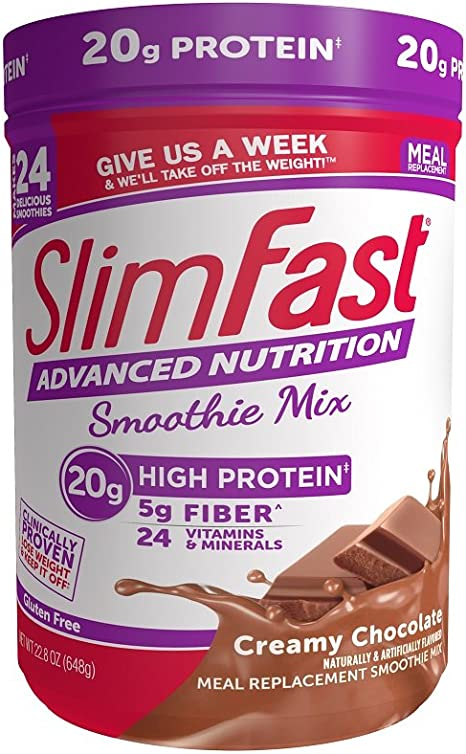 Amazon.com: SlimFast Advanced Nutrition Creamy Chocolate Smoothie ...