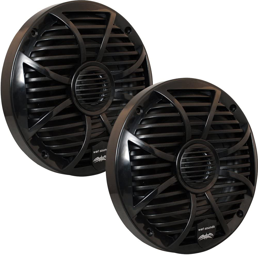Wet Sounds SW Series 6.5 Black Marine Coaxial Speaker 100 Watts RMS 200 Watts Max