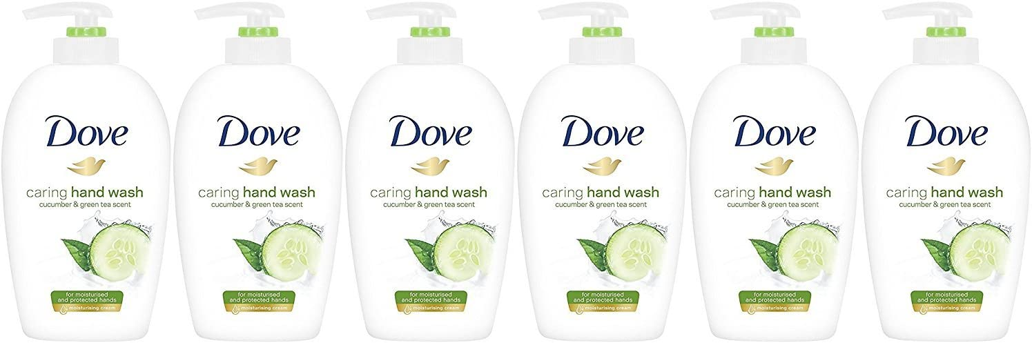 Dove Caring Hand Wash, Fresh Touch Cucumber & Green Tea, 250 Ml/8.45 oz (Pack of 6): Health & Personal Care