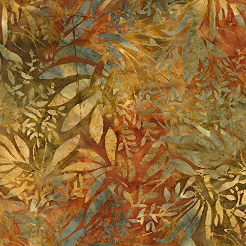 Foliage Batik - Timeless Treasures Nutmeg Tonga Batiks Autumn Foliage