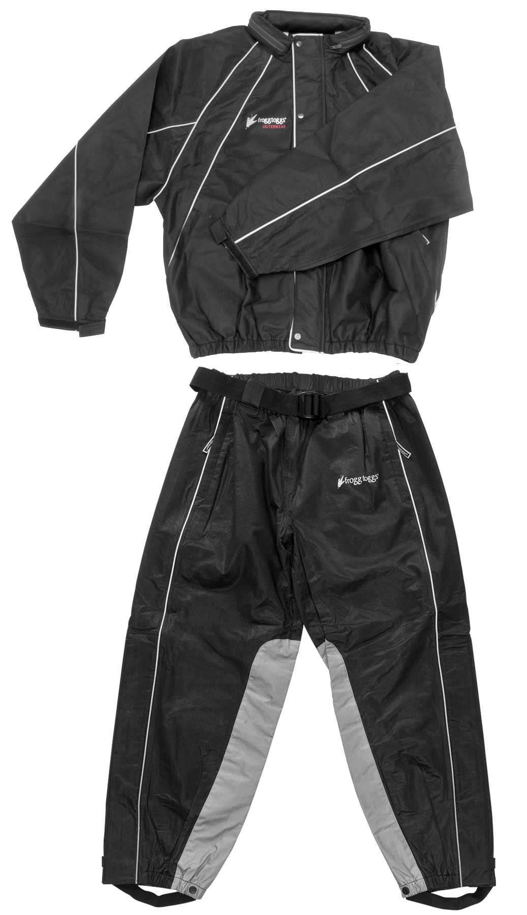 Frogg Toggs Hogg Togg Men's Street Motorcycle Rainsuit - Black/Large by Frogg Toggs